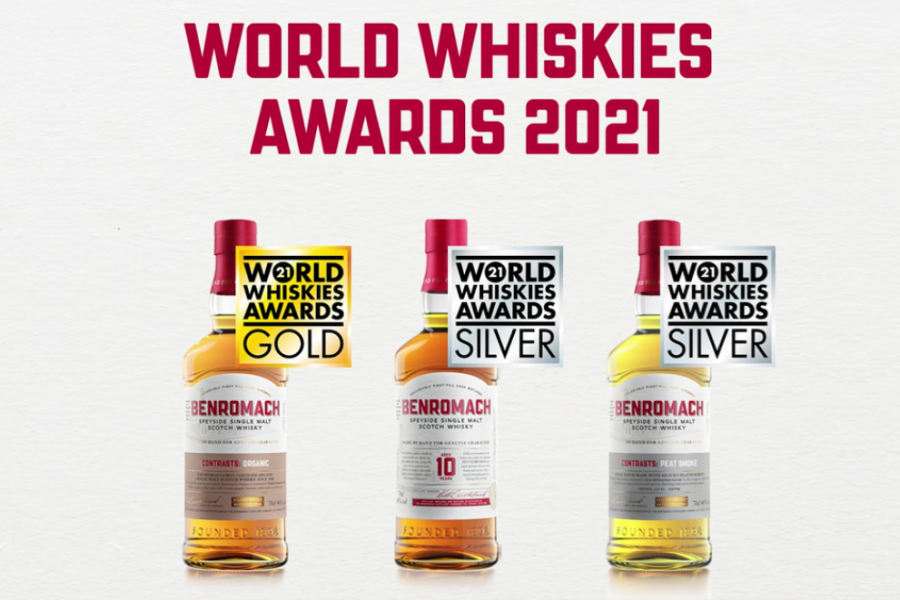 news: Benromach is Awarded Gold in the World Whiskies Awards