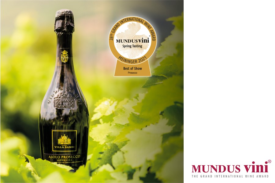 news:Best of Show Prosecco and Gold Medal award at Mundus Vini for Villa Sandi