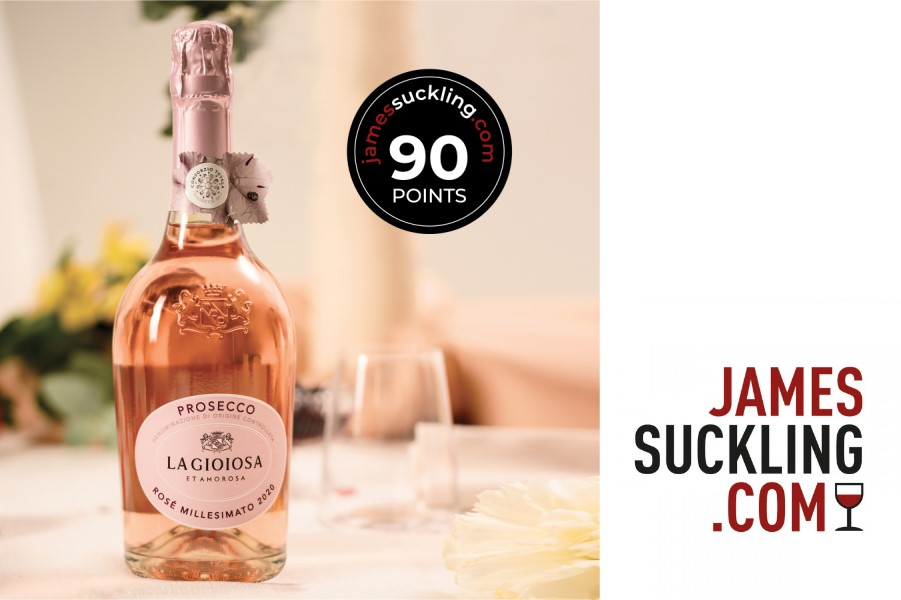 news:La Gioiosa Prosecco DOC Rosé scores 90pt by James Suckling