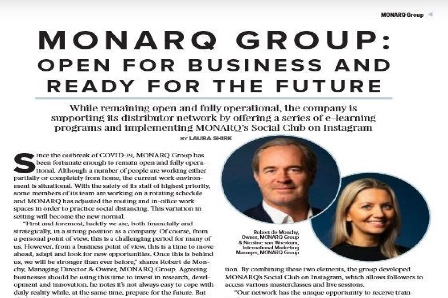 News:MONARQ Group Open for business and ready for the future