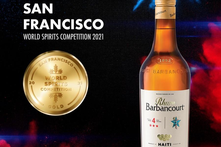 News:Rhum Barbancourt gana el oro en el Concurso Mundial de Bebidas Espirituosas de San Francisco